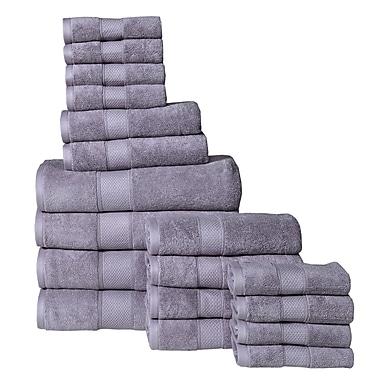 August Grove Dorn 18 Piece Towel Set; Lilac