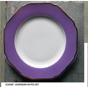 Astoria Grand Thayer 49 Piece Dinnerware Set, Service for 8; Lavender