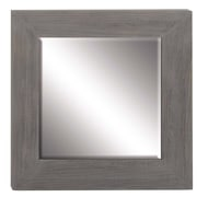 Darby Home Co Ballyclarc Contemporary Square Wooden Accent Mirror; 33'' H x 33''W x 2'' D