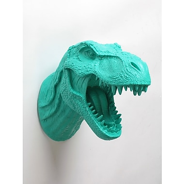 East Urban Home T Rex Wall Decor; Turquoise