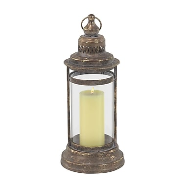 Bloomsbury Market Traditional Metal and Glass Lantern; 17'' H x 7'' W x 7'' D