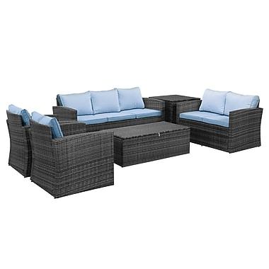 Ivy Bronx Quebec 6 Piece Conversation Set w/ Cushions (Set of 6)