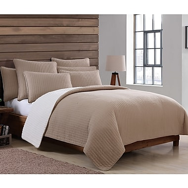 Union Rustic Aviana Sherpa Quilt Set; Twin