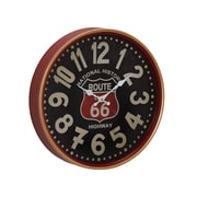 Williston Forge Jessi Vintage Iron Route 66 Round 12'' Wall Clock; Medium