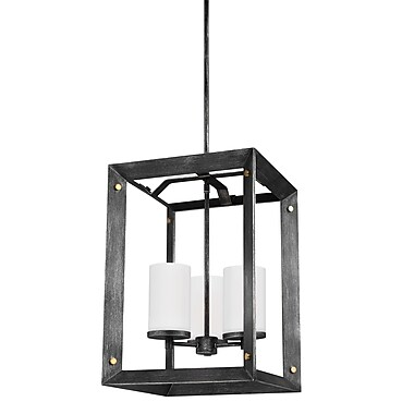 Gracie Oaks Galindo 3-Light Metal Foyer Pendant; Stardust