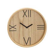 Union Rustic Lucille Rustic Round Analog Wooden 20'' Wall Clock w/ Roman Characters; Small