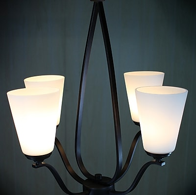 Winston Porter Bower Modern 4-Light Candle-Style Chandelier