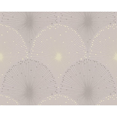 AS Creation Spot 3 A Hint of Elegance 33' x 21'' Wallpaper Roll; Yellow/Gray