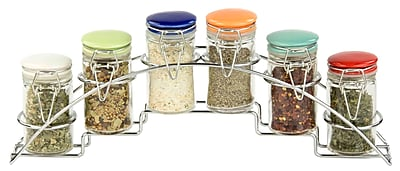 Home Basics 6 Piece Jar Spice Jar