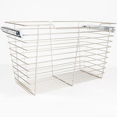Hardware Resources Closet Pullout 29''W x 17''H x 16''D Drawer; Satin Nickel