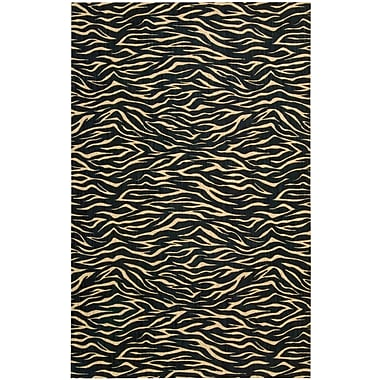 Bloomsbury Market Dunnstown Hand-Woven Midnight Area Rug; 3'6'' x 5'6''