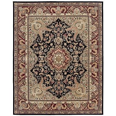 Astoria Grand Bryony Hand Woven Wool Black/Brown Indoor Area Rug; Rectangle 2' x 3'