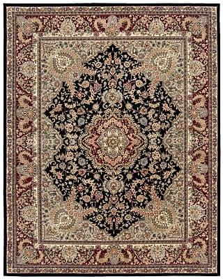 Astoria Grand Bryony Hand Woven Wool Black/Brown Indoor Area Rug; Rectangle 8'6'' x 11'6''