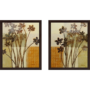 Red Barrel Studio 'Essence of Time' 2 Piece Framed Acrylic Painting Print Set