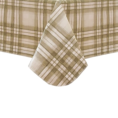 August Grove Elsmoriet Plaid Flannel Backed Vinyl Tablecloth; 60'' H x 120'' W