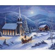 Alcott Hill 'Christmas In Pleasantville' Graphic Art Print; Paper