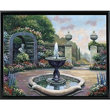 Astoria Grand 'Renaissance Garden' Graphic Art Print; Shiny Black Metal Framed