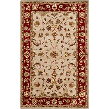 Darby Home Co Beardmore Red/Beige Area Rug; 5' x 8'