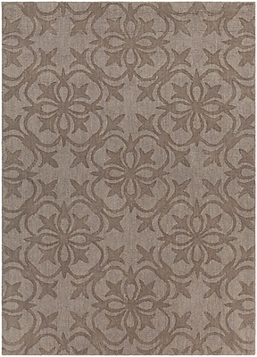 Darby Home Co Beazer Patterned Tranditional Wool Brown Area Rug; 5' x 7'