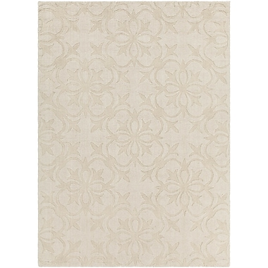 Darby Home Co Beazer Patterned Tranditional Cream Area Rug; 7' x 10'