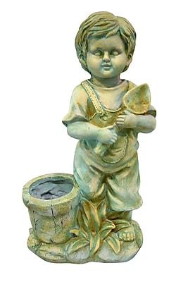 Jeco Inc. Boy w/ Flower Pot Statue