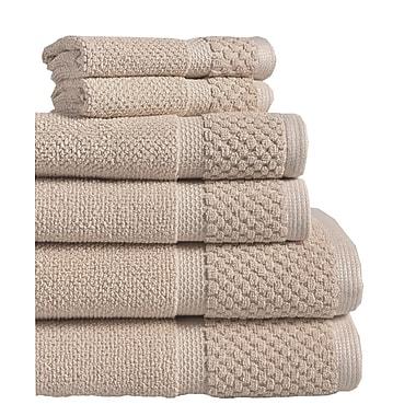 Gracie Oaks 6 Piece Towel Set; Taupe