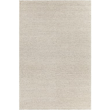 Gracie Oaks Kurten Contemporary Wool Cream Area Rug; 5' x 7'6''