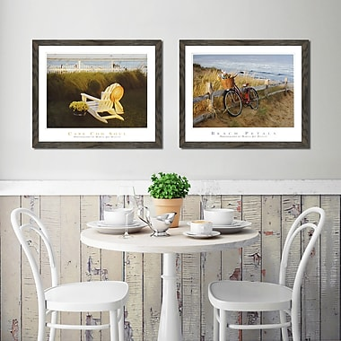 Highland Dunes 'Beach Petals and Cape Cod Soul II' 2 Piece Framed Photographic Print Set