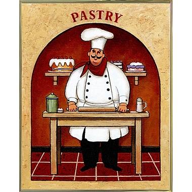Fleur De Lis Living 'Pastry' Graphic Art Print; Gold Metal Framed Paper