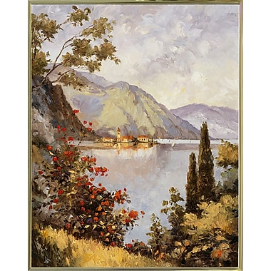 Fleur De Lis Living 'Lake Como' Print; Gold Metal Framed