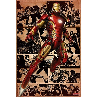 iCanvas 'Iron Man, Comic Frames Come to Life' by Marvel Comics Graphic Art on Wrapped Canvas