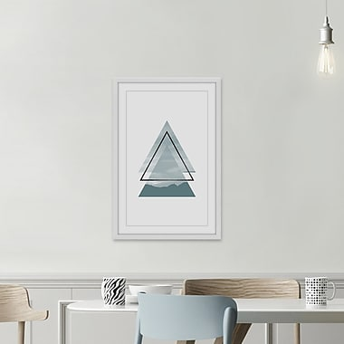 Ivy Bronx 'Trois Triangle II' Framed Photographic Print; 72'' H x 48'' W