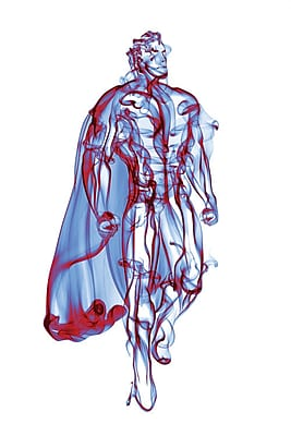 iCanvas 'Superman' by Octavian Mielu Graphic Art on Wrapped Canvas; 12'' H x 8'' W x 0.75'' D