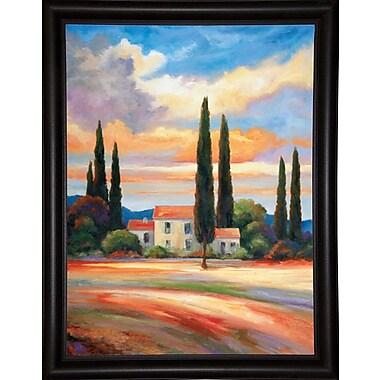 Fleur De Lis Living 'Sunset In Provence' Graphic Art Print; Bistro Expresso Framed Paper