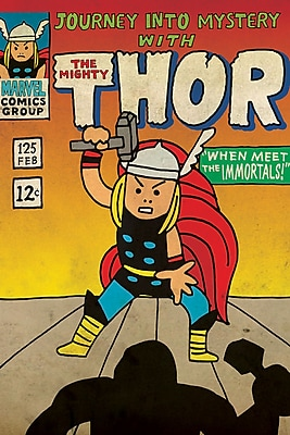 iCanvas 'Marvel Comics Retro the Mighty Thor' by Marvel Comics Graphic Art on Wrapped Canvas