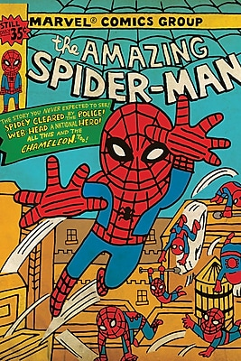 iCanvas 'Marvel Comics Retro the Amazing Spider-Man' by Marvel Comics Graphic Art on Wrapped Canvas