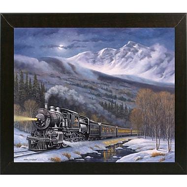 Loon Peak 'Union Pacific' Graphic Art Print; Brazilian Walnut Wood Medium Framed Paper