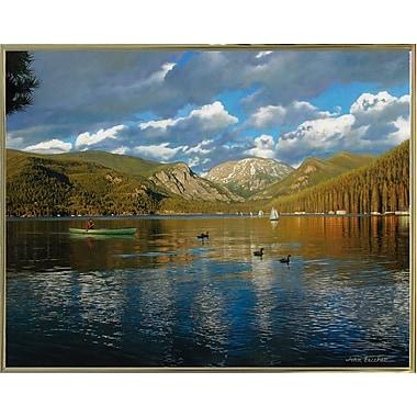 Loon Peak 'Vista Of Grand Lake, Colorado' Graphic Art Print; Gold Metal Framed Paper