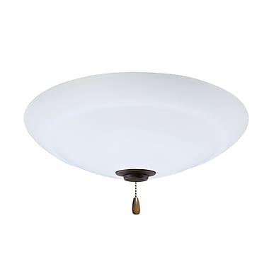 Red Barrel Studio 4-Light Bowl Fan Light Fixture; Golden Espresso