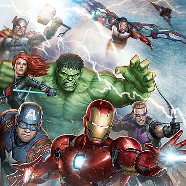iCanvas 'Avengers Assemble Classic Battle Pose' by Marvel Comics Graphic Art on Wrapped Canvas