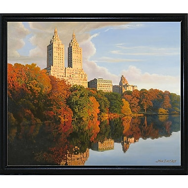 Latitude Run 'Autumn In Central Park' Graphic Art Print; Flat Back Metal Framed