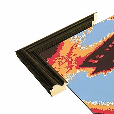 Latitude Run 'Captivating Eyes' Graphic Art Print; Black Wood Grande Framed Paper