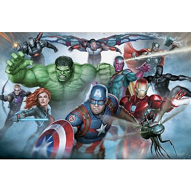 iCanvas 'Avengers Assemble Classic Full Team' by Marvel Comics Graphic Art on Wrapped Canvas