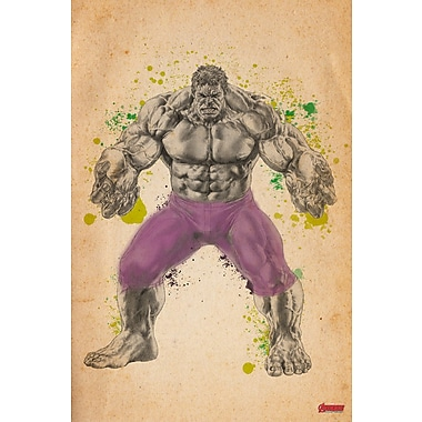 iCanvas 'Hulk, From the Studio Sketchbook' by Marvel Comics Painting Print on Wrapped Canvas