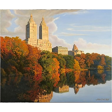 Latitude Run 'Autumn In Central Park' Graphic Art Print; Paper