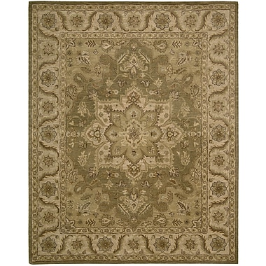 Astoria Grand Danton Hand-Woven Olive Area Rug; 5' x 8'