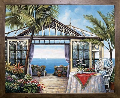Bay Isle Home 'Ocean View' Graphic Art Print; Cafe Mocha Framed Paper
