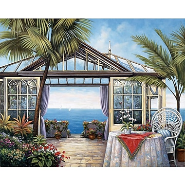 Bay Isle Home 'Ocean View' Graphic Art Print; Rolled Canvas