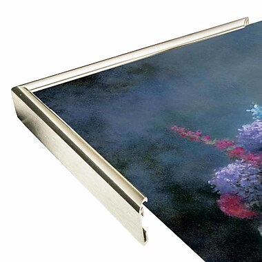 Charlton Home 'Floral A' Print; Silver Metal Framed Paper
