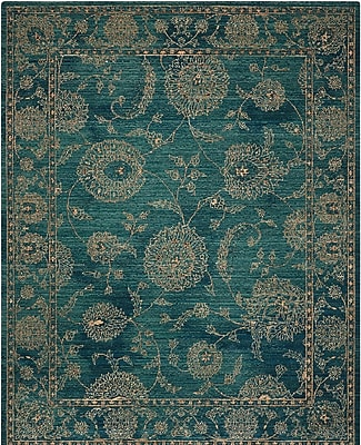 Charlton Home Mailus Blue Area Rug; Rectangle 4' x 6'